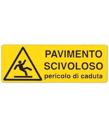 Cartello 39 pavimento scivoloso pericolo di caduta - Cartello pavimento bagnato ...