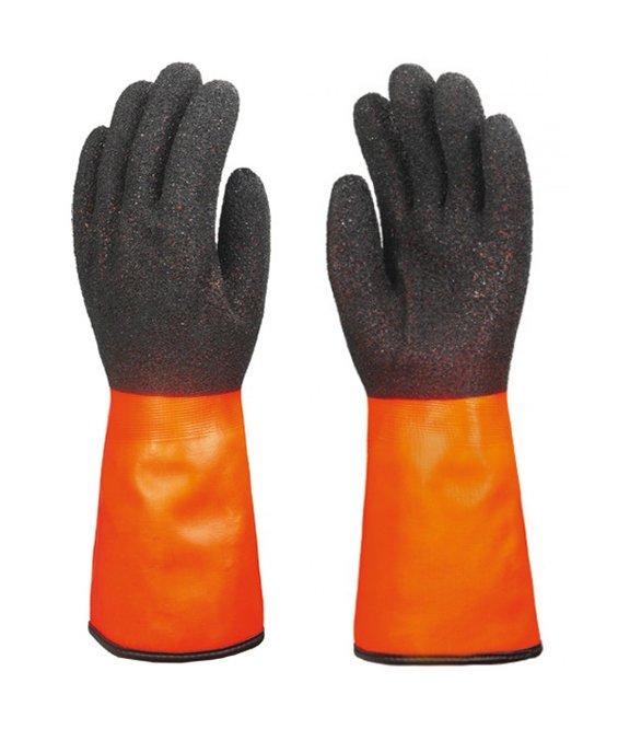 Guanti termici in nylon palmo e dorso PVC nero antiscivolo