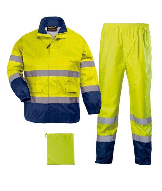 Impermeabile Alta Visibilità Emergenza Sanitaria Uomo: Abbigliamento