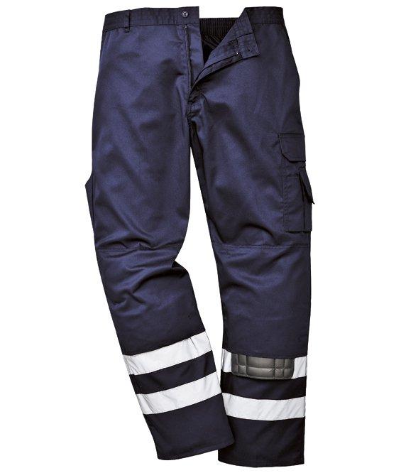 Pantaloni con bande rifrangenti in Kingsmill varie tasche