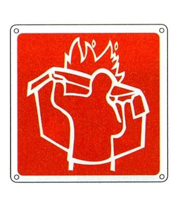 Cartello Con Simbolo Coperta Antifiamma