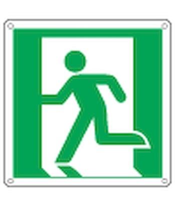 Cartello Con Simbolo Uscita Di Emergenza