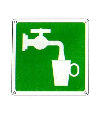 Cartello Con Simbolo Acqua Potabile