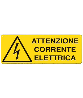 Cartello 'attenzione corrente elettrica