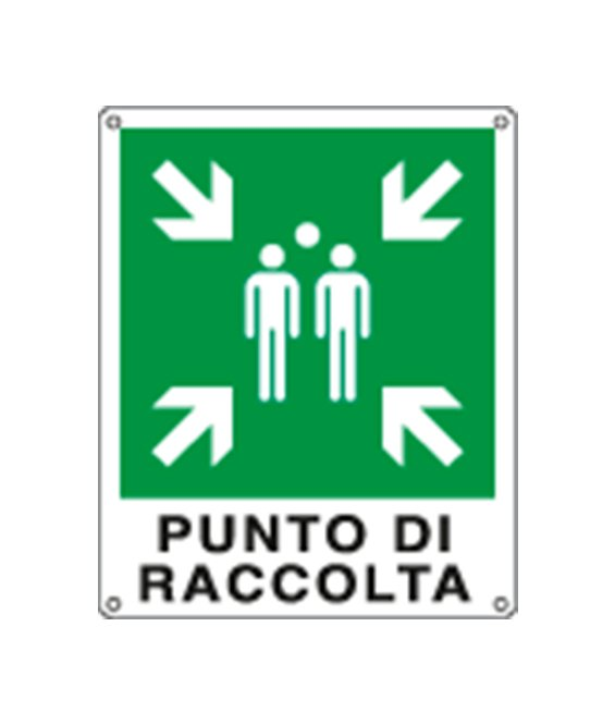 "Cartello ""punto di raccolta"""