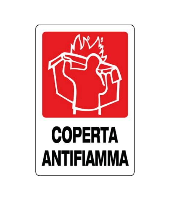 Cartello Coperta Antifiamma In Alluminio