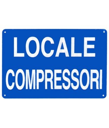 Cartello 'locale compressori
