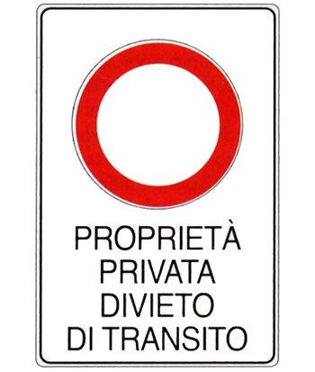 Cartelli propriet privata divieto di accesso e strada for Strada privata