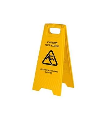 Cavalletto segnaletico bifacciale pavimento bagnato e - Cartello pavimento bagnato ...