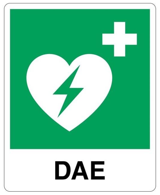 Cartello con scritta 'DAE'