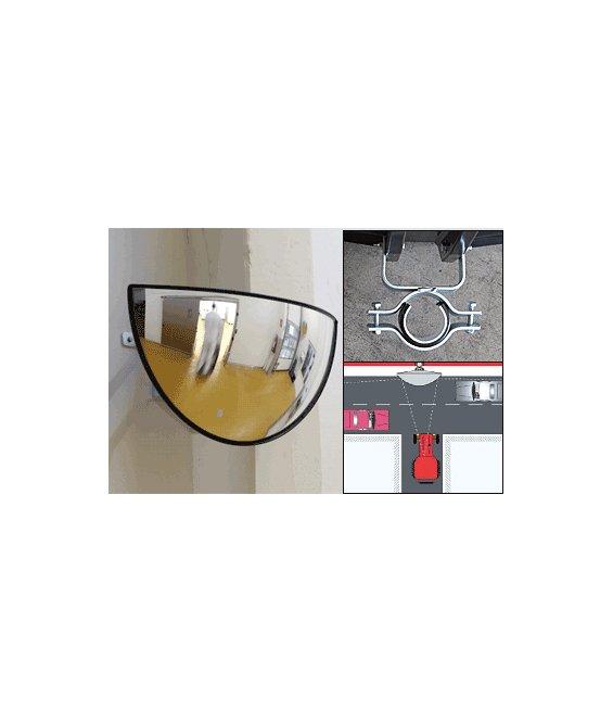 Specchio parabolico stradale con visibilit a 180 - Specchi stradali vendita ...