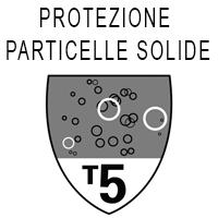 Protezione tipo 5 dalle particelle solide